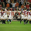 Sevilla FC players celebrating a goal