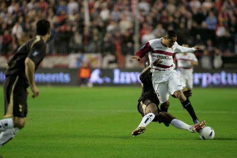 Adriano suffering a foul