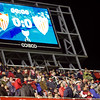 Electronic scoreboard. Taken in the Sanchez Pizjuan stadium on 4 Feb 2009 during the King's Cup semifinal game between the football teams Sevilla FC and Athletic Club of Bilbao, town of Seville, autonomous community of Andalusia, southern Spain
