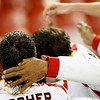 Goal celebration. Taken in the Sanchez Pizjuan stadium on 4 Feb 2009 during the King's Cup semifinal game between the football teams Sevilla FC and Athletic Club of Bilbao, town of Seville, autonomous community of Andalusia, southern Spain