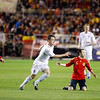 Fernando Torres (left), John Terry (center) and Andres Iniesta (kneeling). Taken during the friendly football game between the national teams of Spain and England that took place in the Sanchez Pizjuan stadium, Seville, Spain, 11 Feb 2009.