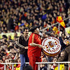 """""""Manolo el del bombo"""" (Manolo the drummer), famous Spanish fan. Taken during the friendly football game between the national teams of Spain and England that took place in the Sanchez Pizjuan stadium, Seville, Spain, 11 Feb 2009."""