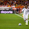 Gabriel Agbonlahor (England) with the ball. Taken during the friendly football game between the national teams of Spain and England that took place in the Sanchez Pizjuan stadium, Seville, Spain, 11 Feb 2009.