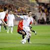 Frank Lampard trying ti get the ball. Taken during the friendly football game between the national teams of Spain and England that took place in the Sanchez Pizjuan stadium, Seville, Spain, 11 Feb 2009.