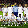 The English squad forming for the photographers. Standing, left to right: Philip N. Jagielka (5), Emile W. I. Heskey (9), David J.  James (1), John G.Terry (6), Gabriel Agbonlahor (11), Gareth Barry (8). Crouching down, left to right: Stewart Downing (10), Glen M. Johnson  (2), Michael Carrick (4), Shaun C. Wright-Phillips (7), Ashley Cole (3). Taken before the friendly football game between the national teams of Spain and England that took place in the Sanchez Pizjuan stadium, Seville, Spain, 11 Feb 2009.