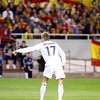 David Beckham making a sign. Taken during the friendly football game between the national teams of Spain and England that took place in the Sanchez Pizjuan stadium, Seville, Spain, 11 Feb 2009.