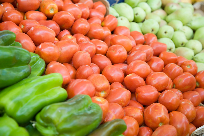 Vegetables for sale on the market, Spain