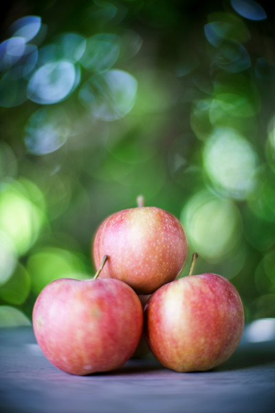 Close-up of red apples, Spain