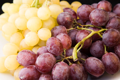 Bunch of grapes on a plate