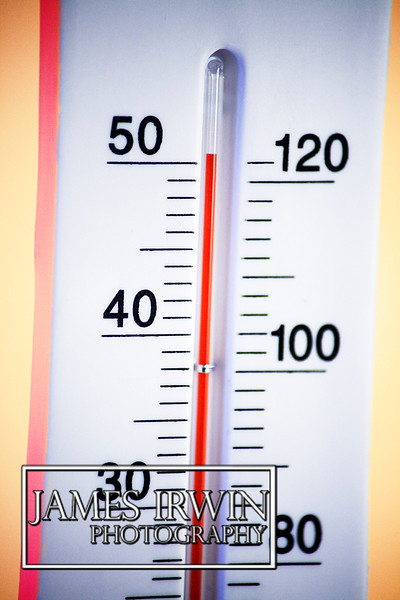 The heat is rising on this thermometer