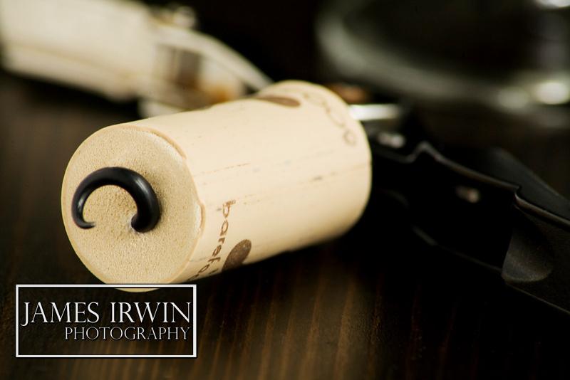 A freshly corked wine cork.