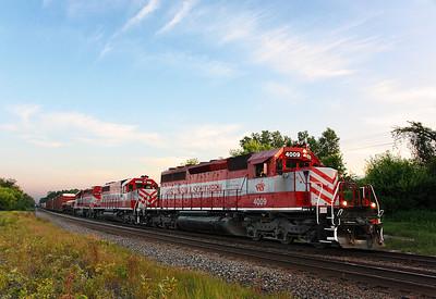 Wisconsin & Southern 4009 (EMD SD40-2) - RIchfield, WI