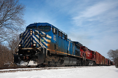 Canadian Pacific 1053 (AC4400CW) - Pewaukee, WI