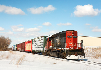 Canadian National 6015 (GMD SD40u) - West Bend, WI