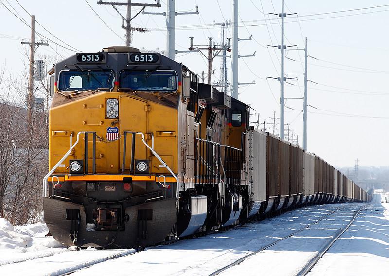 Union Pacific 6513 (GE AC4400CW) - Fonda Siding (Milwaukee, WI)