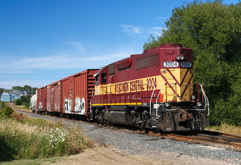 Wisconsin Central 3004 (EMD GP40) - Munising, MI