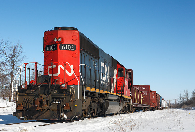 Candian National 6102 (EMD SD40-2) - DBR Junction (Germantown, WI)