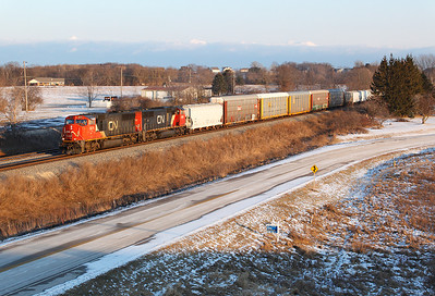 Canadian National 5674 (GMD - SD75I ) - Ackerville, WI