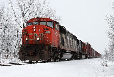 Canadian National 5533 (GMD SD60-F) - Duplainville, WI