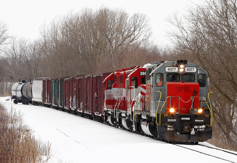 Wisconsin & Southern 4077 (SD40M-2) - Slinger, WI
