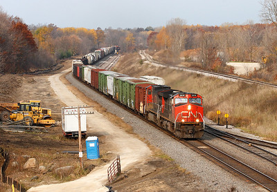 Canadian National 2616 (GE C44-9W) - Ackerville, WI