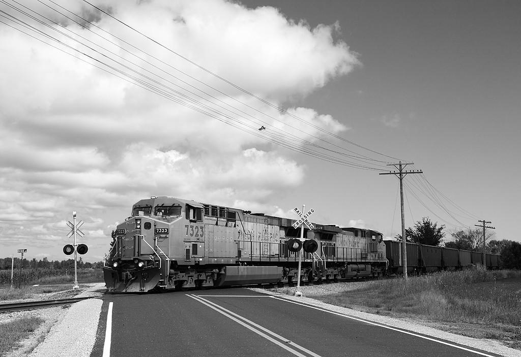 Union Pacific 7323 (GE C44/60AC) - Belgium, WI