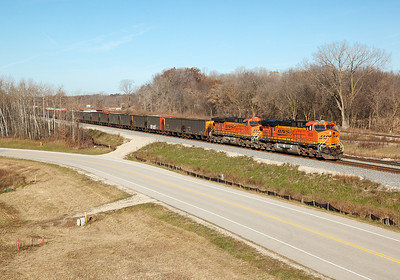 Burlington Northern Sante Fe 5836 (GE ES44AC) - Ackerville, WI