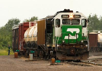 Burlington Northern 2964 (EMD GP39V) - Superior, WI