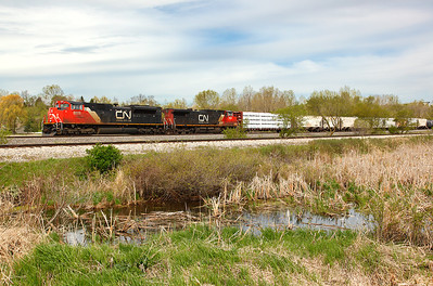 Canadian National 8928 (EMDI SD70M-2) - Richfield, WI
