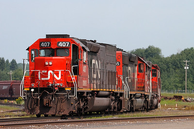 Canadian National 407 (EMD SD40T-3) - Proctor, MN