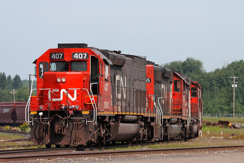 Canadian National 407 (EMD SD40T-3) - Proctor, MN