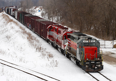 Wisconsin & Southern 4077 (SD40M-2) - Ackerville, WI