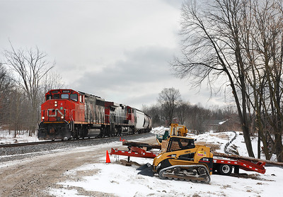 Canadian National 9555 (GMD GP40-2LW) - Slinger, WI