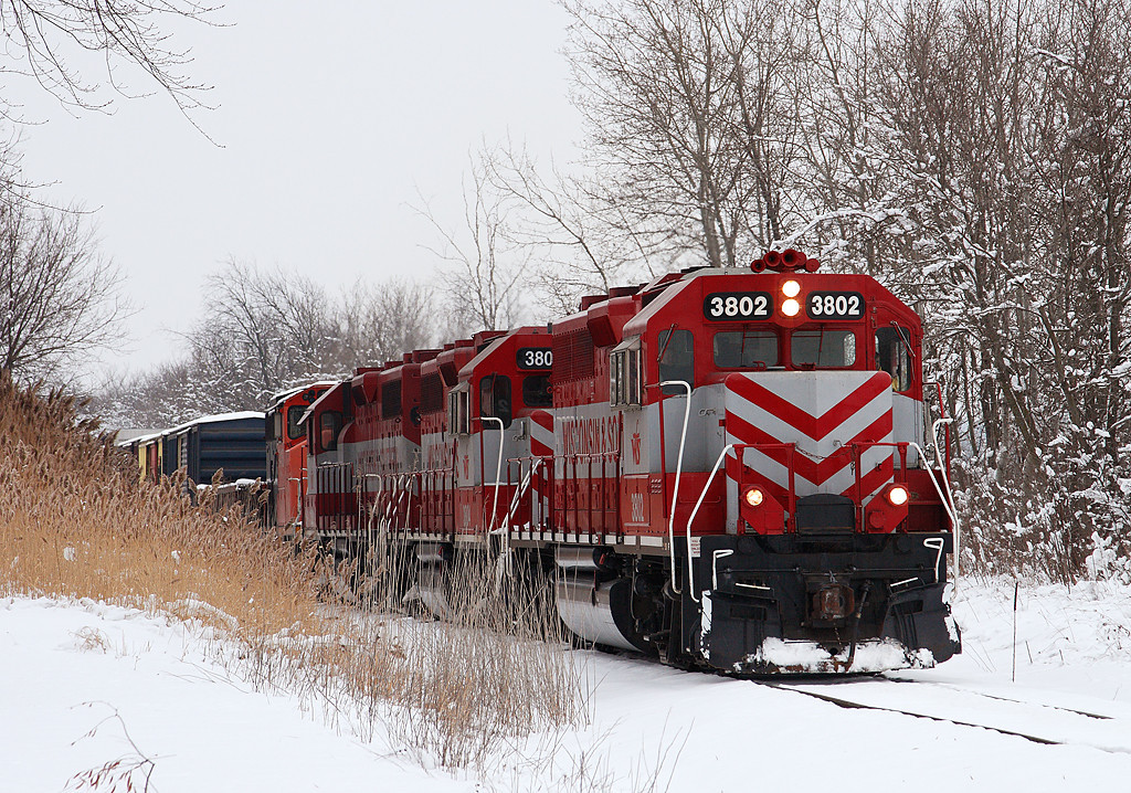 Wisconsin & Southern 3802 (GP38AC) - Richfield, WI