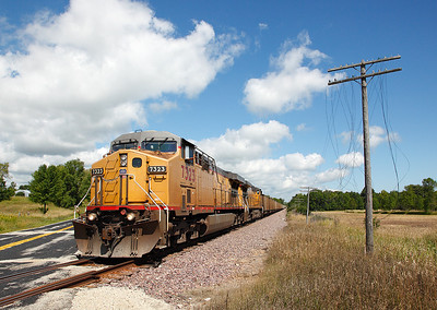 Union Pacific 7323 (GE C44/60AC) - Port Washington, WI