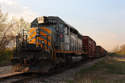 Canadian National 5940 (GMD SD40-3) - DBR Junction (Germantown, WI)