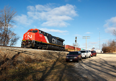 Canadian National 2330 (GE ES44DC) - Hwy D (Theresa, WI)