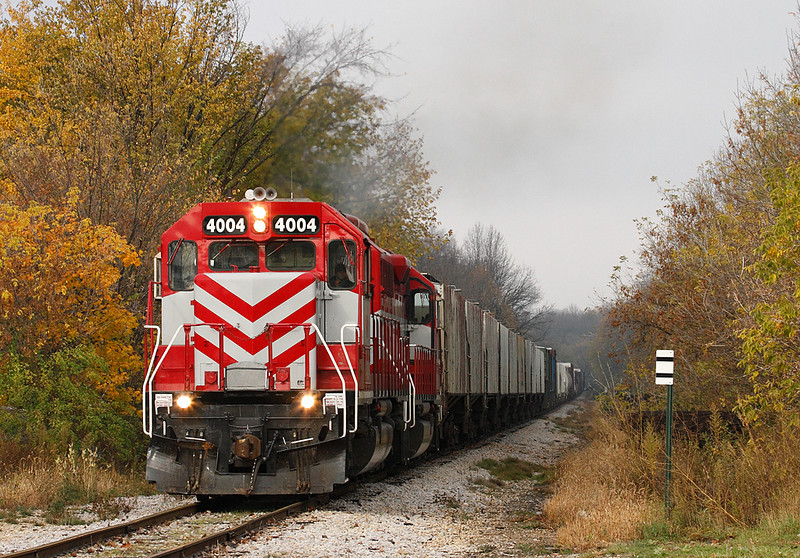Wisconsin & Southern 4004 (EMD SD40-2) - Germantown, WI