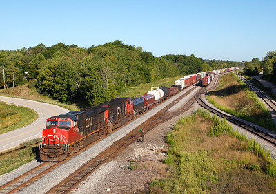 Canadian National 2534 (GE C44-9W) - Ackerville, WI