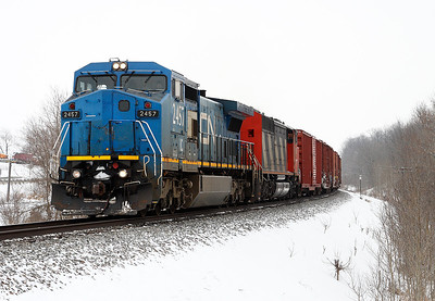 Canadian National 2457 (GE C40-8W) - Richfield, WI