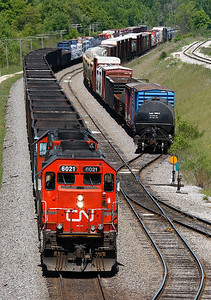 Canadian National 6021 (GMD SD40u) - Ackerville, WI