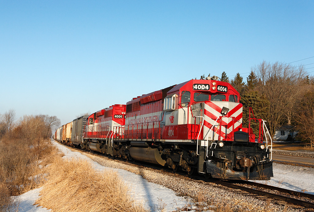 Wisconsin & Southern 4004 (EMD SD40-2) - Ackerville, WI