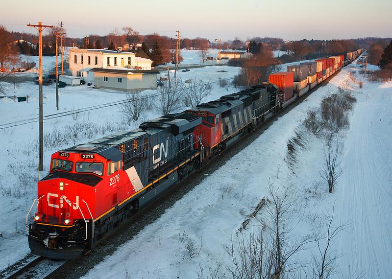 Canadian National 2278 (GE ES44DC) - Ackerville, WI