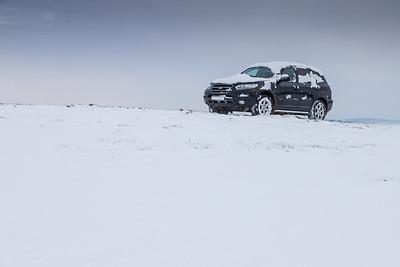 Car towbar snow UK