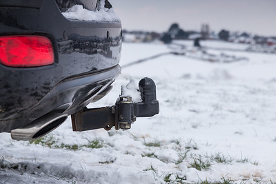 Car towbar snow UK