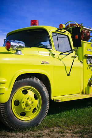 Old Yellow Fire Truck
