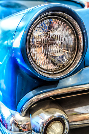 Headlight on Classic Car