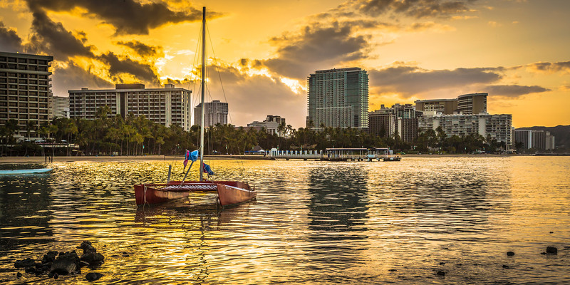 Sunrise in Waikiki