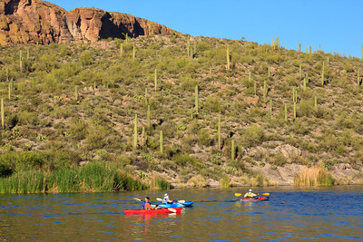 Kayaks at Lake