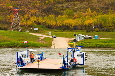 Ferry Crossing the River